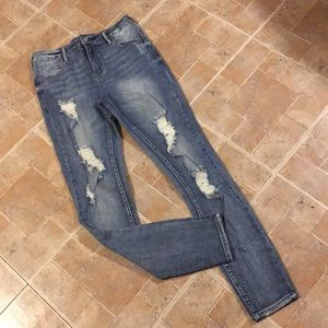 PacSun high waisted distressed jeans size women 25